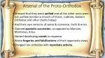 arsenal of the proto orthodox