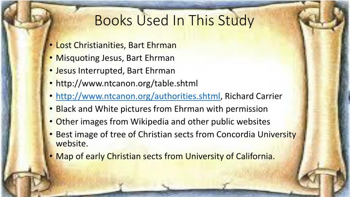 Books Used In