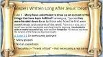 gospels written long after jesus death