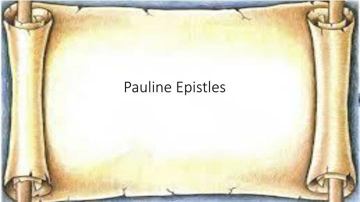 Pauline Epistles