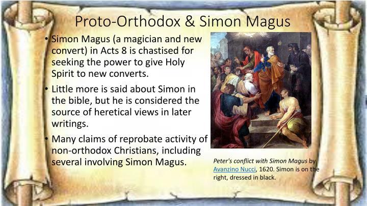 Proto-Orthodox & Simon Magus