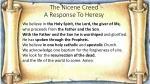 the nicene creed a response to heresy1