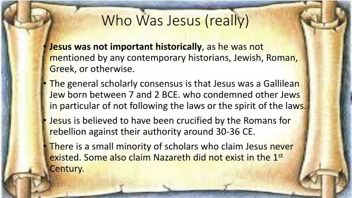 Who Was Jesus (really)
