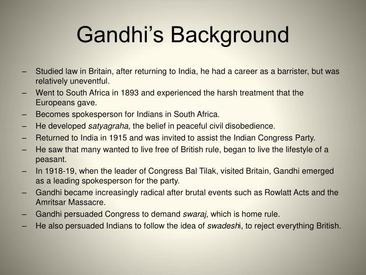 Gandhi's Background
