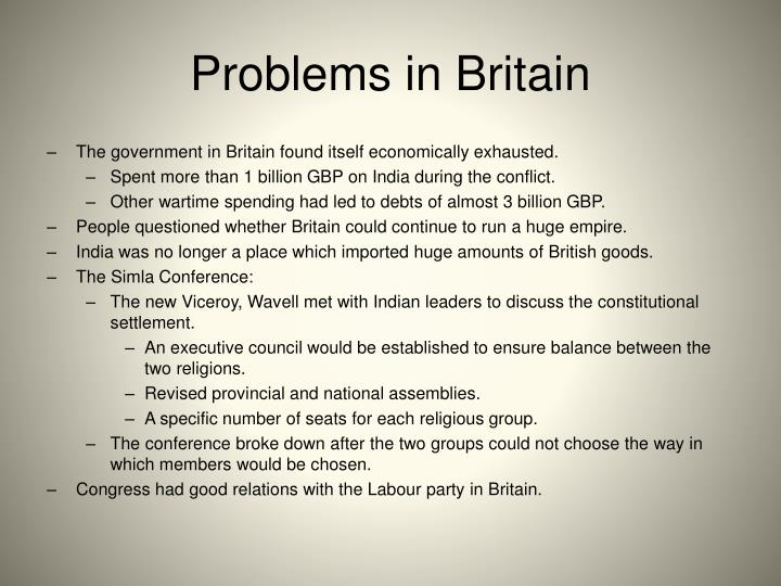 Problems in Britain