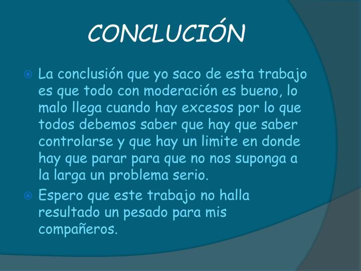 CONCLUCIÓN