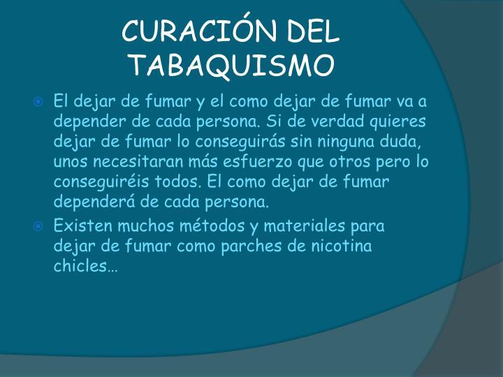 CURACIÓN DEL TABAQUISMO