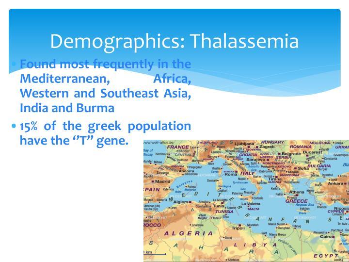 Demographics: Thalassemia
