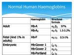 normal human haemoglobins