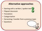 alternative approaches1