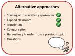 alternative approaches2