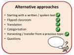 alternative approaches4