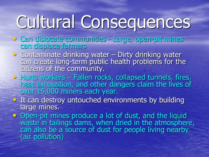 Cultural Consequences