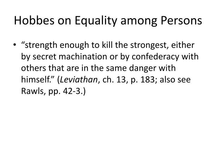 Hobbes on Equality among Persons