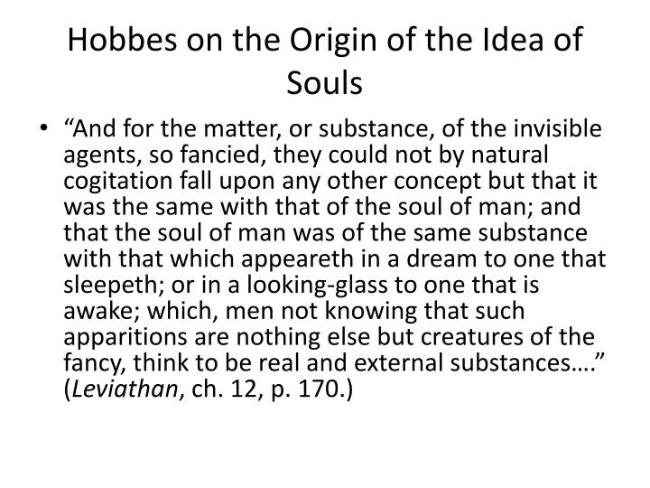 Hobbes on the Origin of the Idea of Souls