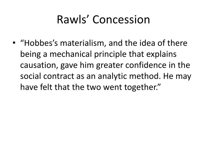 Rawls' Concession