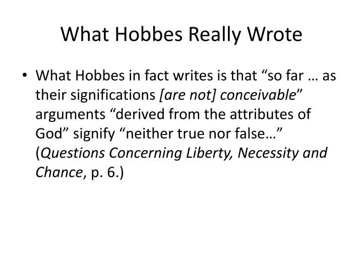 What Hobbes Really Wrote
