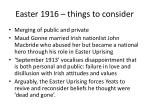 easter 1916 things to consider