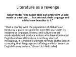 literature as a revenge
