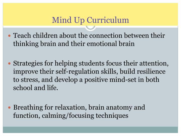 Mind Up Curriculum