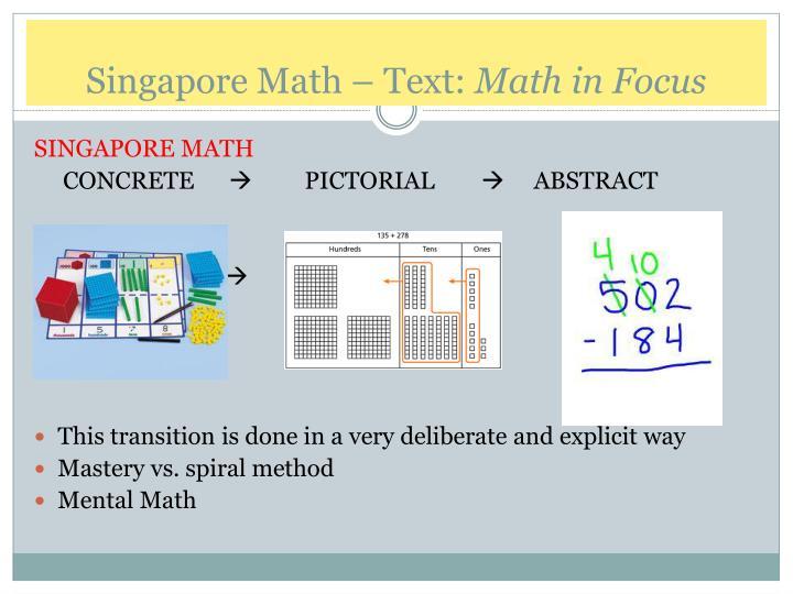 Singapore Math – Text: