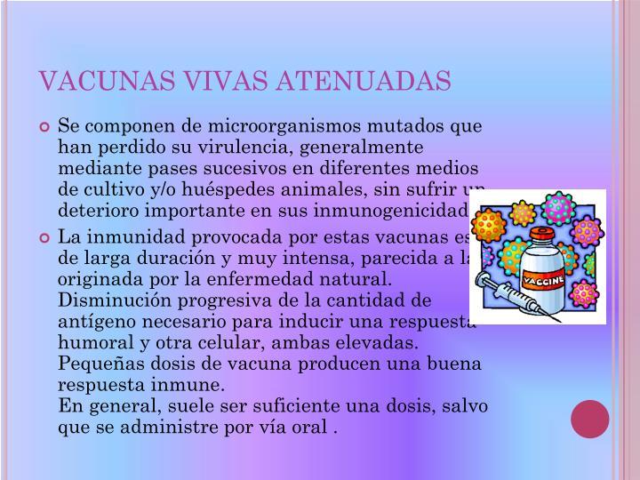 VACUNAS VIVAS