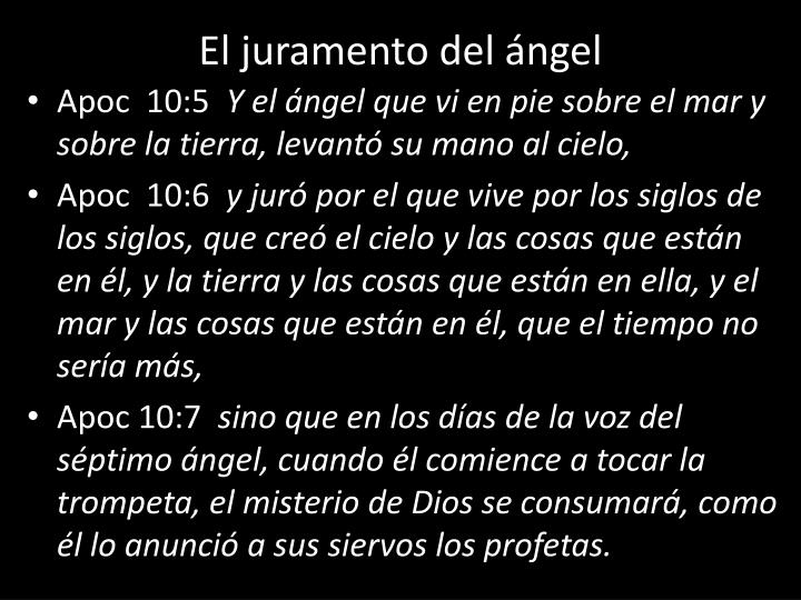El juramento del ángel