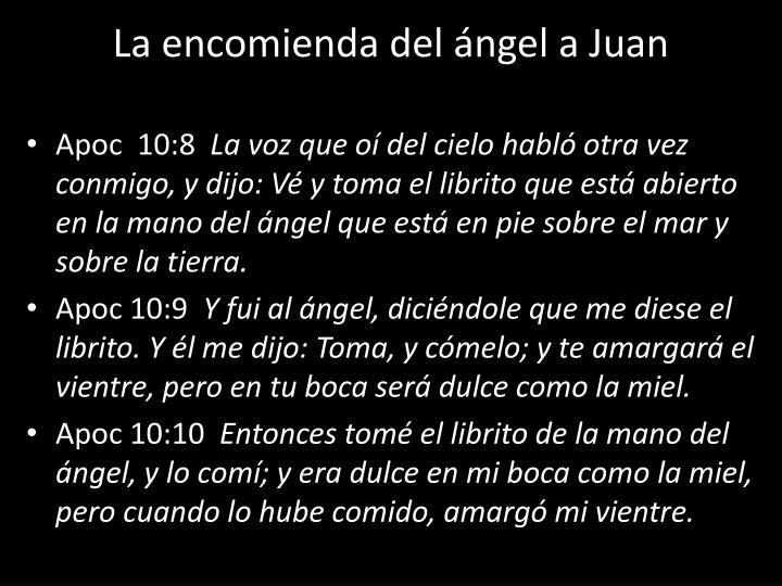 La encomienda del ángel a Juan