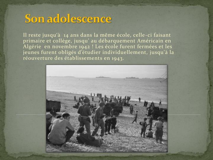 Son adolescence