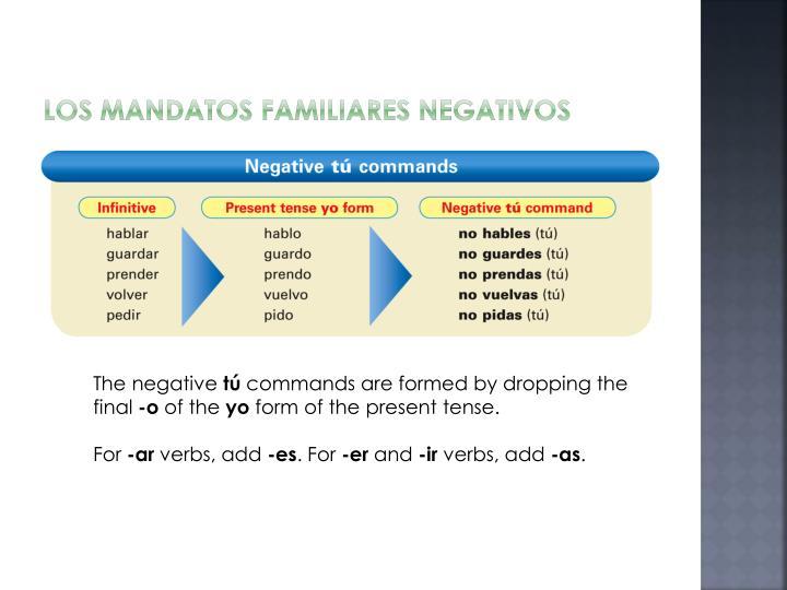 Los mandatos familiares negativos