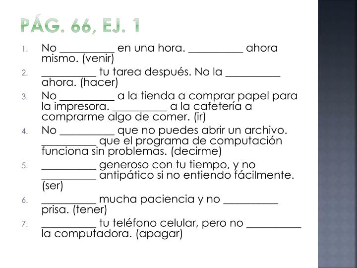 Pág. 66, ej. 1