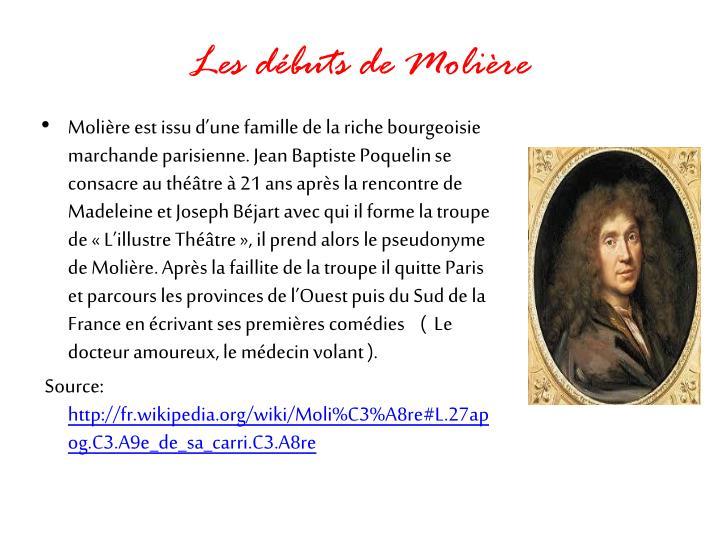 Les débuts de Molière