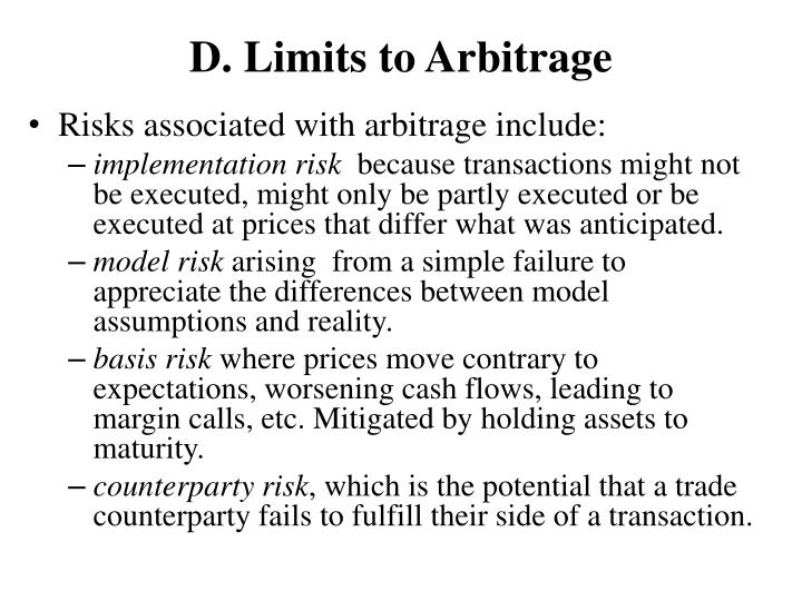 D. Limits to Arbitrage