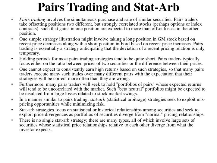 Pairs Trading and Stat-