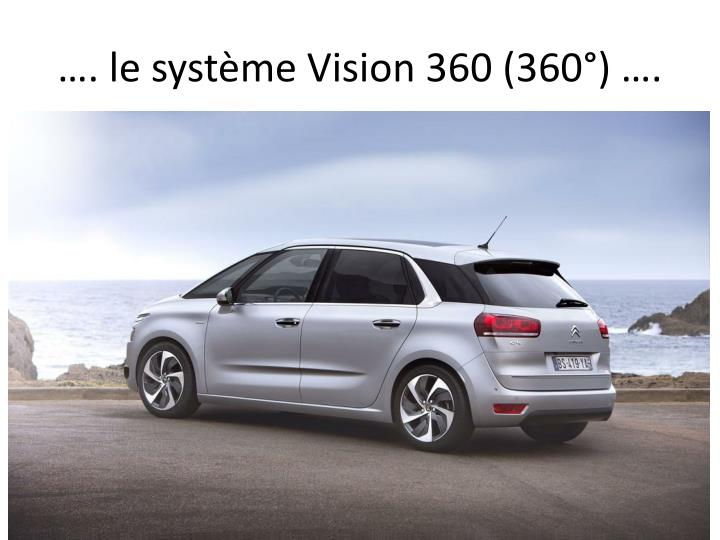 . le systme Vision 360 (360) .