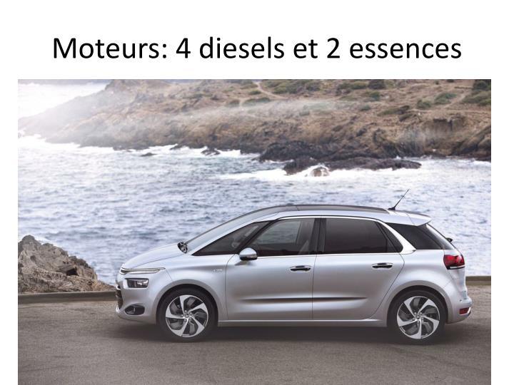 Moteurs: 4 diesels et