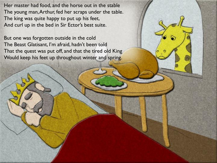 Her master had food,