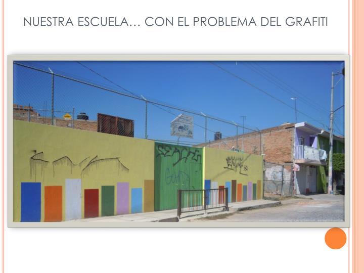 NUESTRA ESCUELA… CON EL PROBLEMA DEL GRAFITI