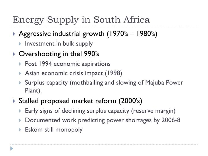 Energy Supply in South Africa