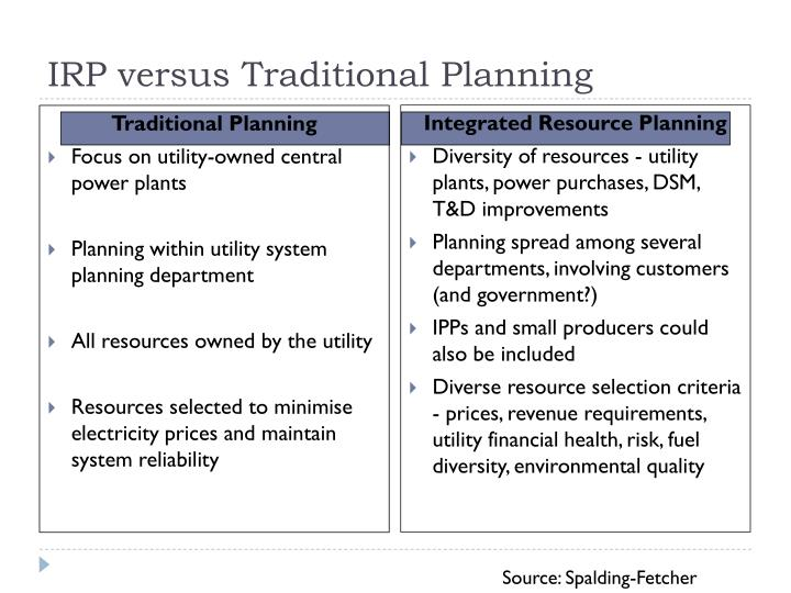 Traditional Planning