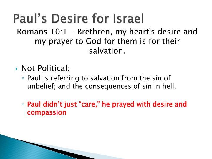 Paul's Desire for Israel