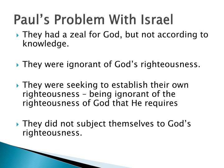 Paul s problem with israel