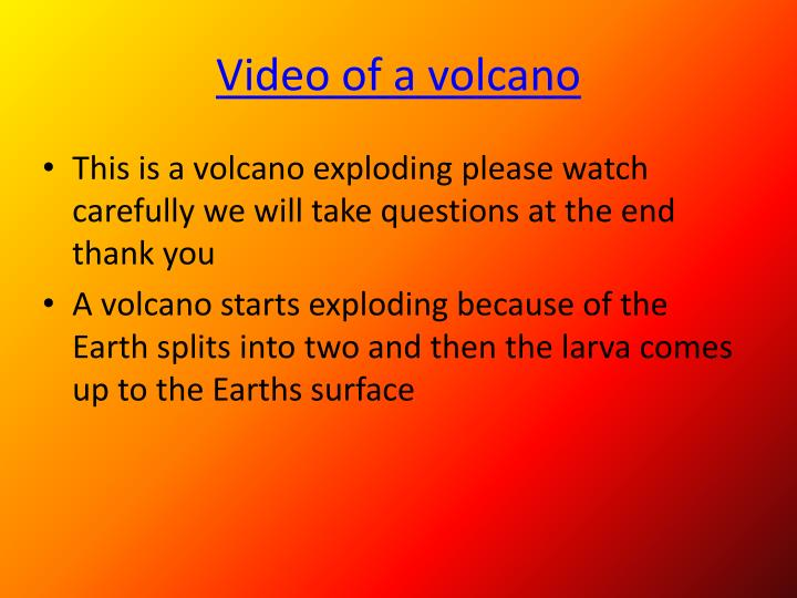 Video of a volcano