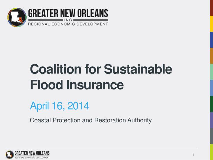 Coalition for sustainable flood insurance