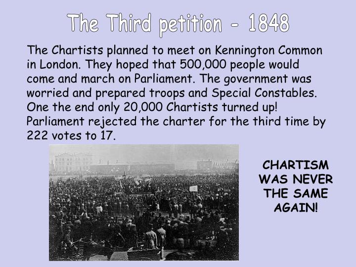The Third petition - 1848