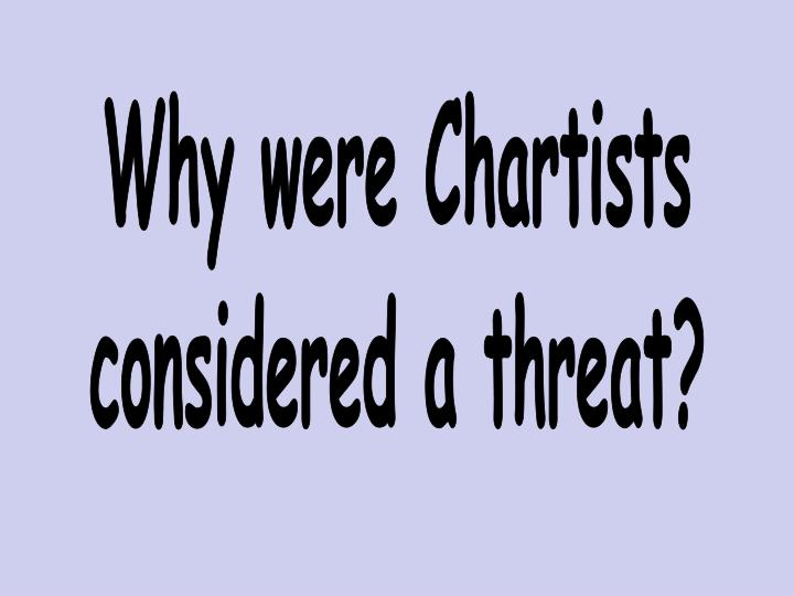 Why were Chartists