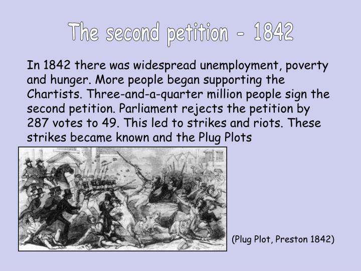 The second petition - 1842