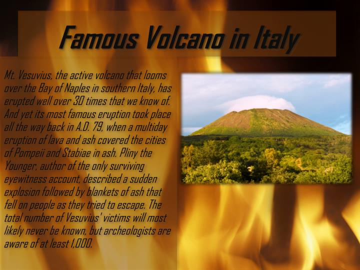 Famous Volcano in Italy