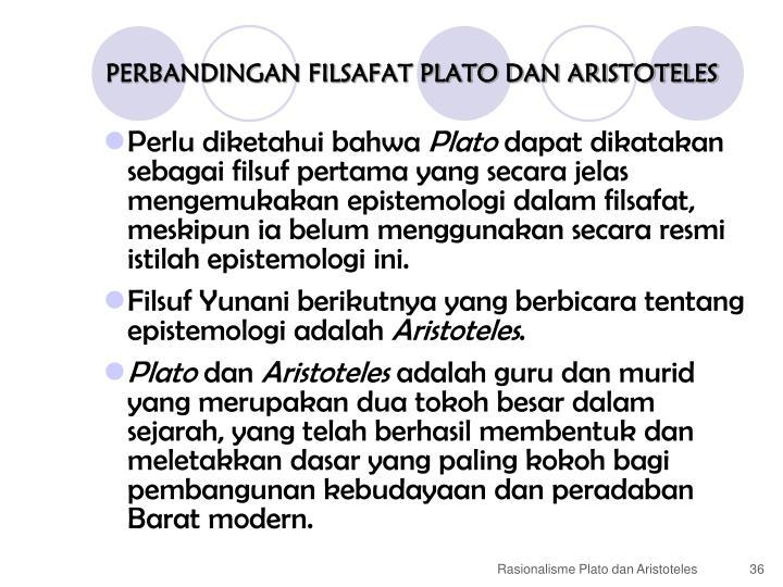 PERBANDINGAN FILSAFAT PLATO DAN ARISTOTELES