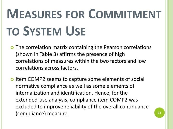 Measures for Commitment